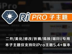 WordPress主题Ripro6.6-子主题-child美化包下载(已测试)